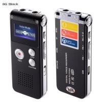 China Digital Audio Voice Recorder, 8GB Multifunctional Dictaphone / MP3 Player with Built-In Speaker / Dual Microphone on sale
