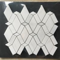 Quality White Diamond Dolomite Nature Stone Mosaic Tile For Kitchen Backsplash wholesale