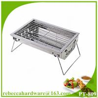 Quality Stainless steel promotion fillet mini BBQ charcoal grill wholesale