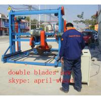 Quality popular!!! Double Saw blade Angle Circular saw mill machinery cut up 8'' x8'' lumber wholesale