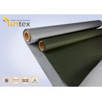 Quality Fiber Glass Insulation Welding Blanket Roll Silicone Rubber Coated Fiberglass Fabric wholesale