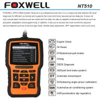 Quality FOXWELL NT510 OBDII Car Diagnostic Scan Tool , Multi-system Code Reader Scanner wholesale