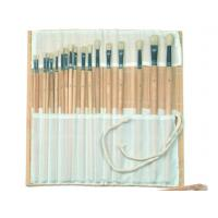 Quality Natural Color Bamboo Brush Holder Useful Tools , Artist Brush Roll Case 41.5 * 56cm wholesale