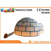 Quality PVC Coated Nylon Blow Up Dome Tent Marquee / Inflatable Igloo With LED Lighting wholesale