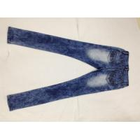 Quality Broken Hole Womens Designer Tapered Pencil Jeans Pants Stone Washed Wear Resistant wholesale