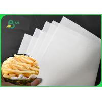 Quality 1200MM 30GSM - 60GSM White French Fries Wrapping Paper 10 / 15GSM PE Coated wholesale