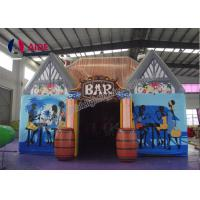 Quality Oxford Cloth House Pub Inflatable Bar Tent / Inflatable Beer Tent CE SGS Certificate wholesale