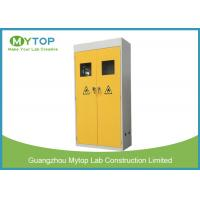 China Industrial Metal Vented Gas Cylinder Storage Cabinets , Flammable Gas Storage Cabinets on sale
