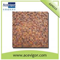 Quality Wooden mosaic wall tiles with rough surface for wall decoration wholesale
