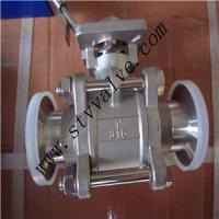 Quality Full Bore Threaded End 1000wog 3PC Ball Valve with Mounting Pad wholesale