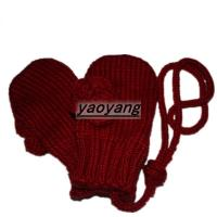 China High quality and lovely style kids'  knitted red gloves KK023 on sale