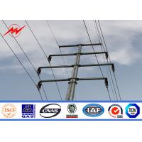 China Double Circuit S500MC Electric Power Pole For Distribution Line Project on sale