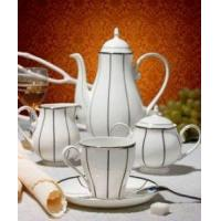 Quality 15 pieces ceramic porcelain tea coffee set wholesale