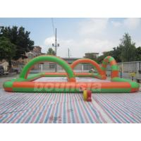 Quality 0.55mm PVC Tarpaulin Inflatable Zorb Ball Track For Snow Field Games wholesale