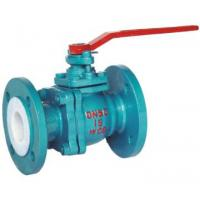 Quality Flanged 1.0Mpa PN Industrial Lined Ball Valve Connection flange Q41F-10C-50 wholesale