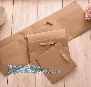 China OEM Ribbon Satin Handle Carrier Bag With Custom Logo Printed Paper Bag For Flowers,Custom Flower Vase Planpot Black Pape on sale