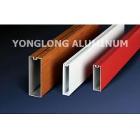 Quality Red 6060 6061 6063 Aluminum Curtain Wall Profile 1.2 / 1.4 Thinckness wholesale
