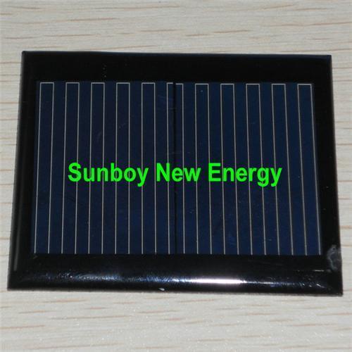 Cheap 1V280mA Epoxy Mini Solar Panel (59*49mm) for sale