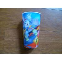 China PLASTIC LENTICULAR Promotional 3D Lenticular Drinking Cup lenticular PP water cup for Kids on sale