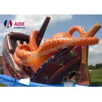Cheap Kids Outdoor Playground Inflatable Sports Equipment Themed Octopus Slide for sale
