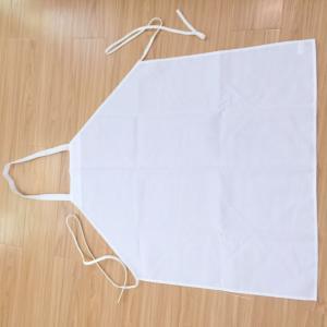 China 100% Spun Polyester Bib Apron white 30*35 on sale