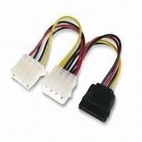 Quality SATA Power Splitter Cable with Length of 16cm, RoHS Compliant wholesale