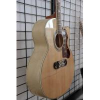Quality Free shipping nature color cutaway J200 acoustic guitar wholesale