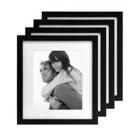 Quality International Designs Matted Linear Classic Wood Picture Frame, 8-Inch by 10-Inch, Black, wholesale