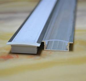 China ESICOLED 1M-2M Woodgrain Led Aluminium Profile For Kitchen Cabinet on sale