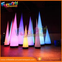 Cheap 3m Height Oxford Inflatable LED Lighting Cone For Event / Party Decoration for sale