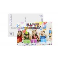 Quality Birthday Card 3D Lenticular Postcard Plastic Material / 3d Animal Pictures wholesale