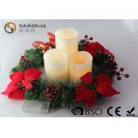Quality 3pk Ivory Wax Decorative Led Candles With Remote Control DL-005 wholesale