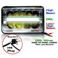 Quality 5 Inch 45W LED Headlights Jeep Wrangler Hi / Low Beam Square Waterproof wholesale