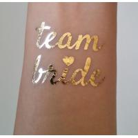 Quality Team Bride Temporary Wedding Metallic Tattoo Stickers Waterproof Removable wholesale