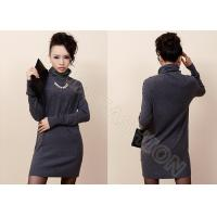China Solid Color Elegant Womens Turtleneck Sweaters in Fine Knit , Long Cashmere Sweater on sale