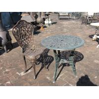 Antique Cast Iron Patio Set Table Chairs Garden Furniture Erosion Resistance
