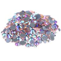 Cheap Custom Size Stick On Rhinestones  , Round Shape Glass Crystal Rhinestones for sale