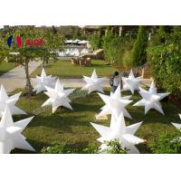 Cheap Ripstop Nylon Blow Up Lighting Inflatable Led Star Decorations Commercial / Rental Grade for sale