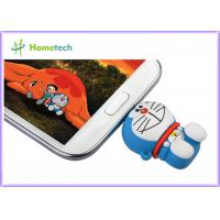 China Rubber PC / Android OS Cell Phone USB Flash Drive , PVC OTG Thumb Drive Pink Green on sale