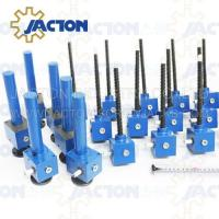 Quality reputation for reliable JTC350 350kn adjustable screw thread jack with shaft and flange mounted wholesale