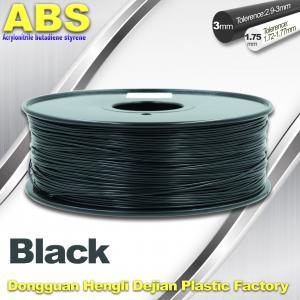Cheap Black 1.75mm /3.0mm 3D Printer Filament , Ultimaker 3D Printer Consumables ABS for sale
