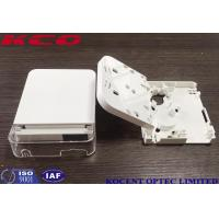 Quality 2 Cores Face Plate 1 Port Optical Fiber Termination Box SC Duplex LC Quad Port wholesale