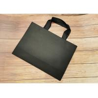 China Recyclable SGS FDA Certified Tote Paper Bags With Black Silk Ribbon Handle on sale