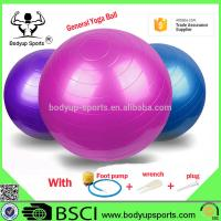 Quality Anti Burst Yoga Gym Exercise Ball With Excellent Slip Resistance PVC Material wholesale