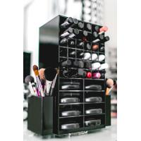 Quality High clear customized acrylic spinning lipstick holder rotatable makeup organizer wholesale