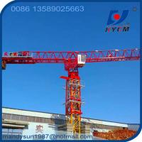 Quality 70m or 74m Boom Length 18tons 60m Freestanding Height QTP315 Flattop Topless Tower Crane wholesale