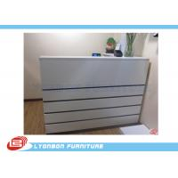 Buy cheap Melamine Finished MDF Shop Cash Counter White / 2000mm * 1500mm * 1100mm product