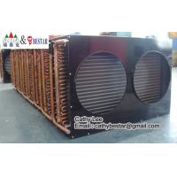 China Finned Type Copper Tube Air Cooled Refrigeration Condenser Coil on sale