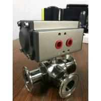 Quality 3 way ball valve with pneumatic actuator wholesale