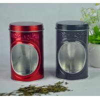 Quality Display Food Grade Tin Containers With Window And Embossing On Box Body wholesale